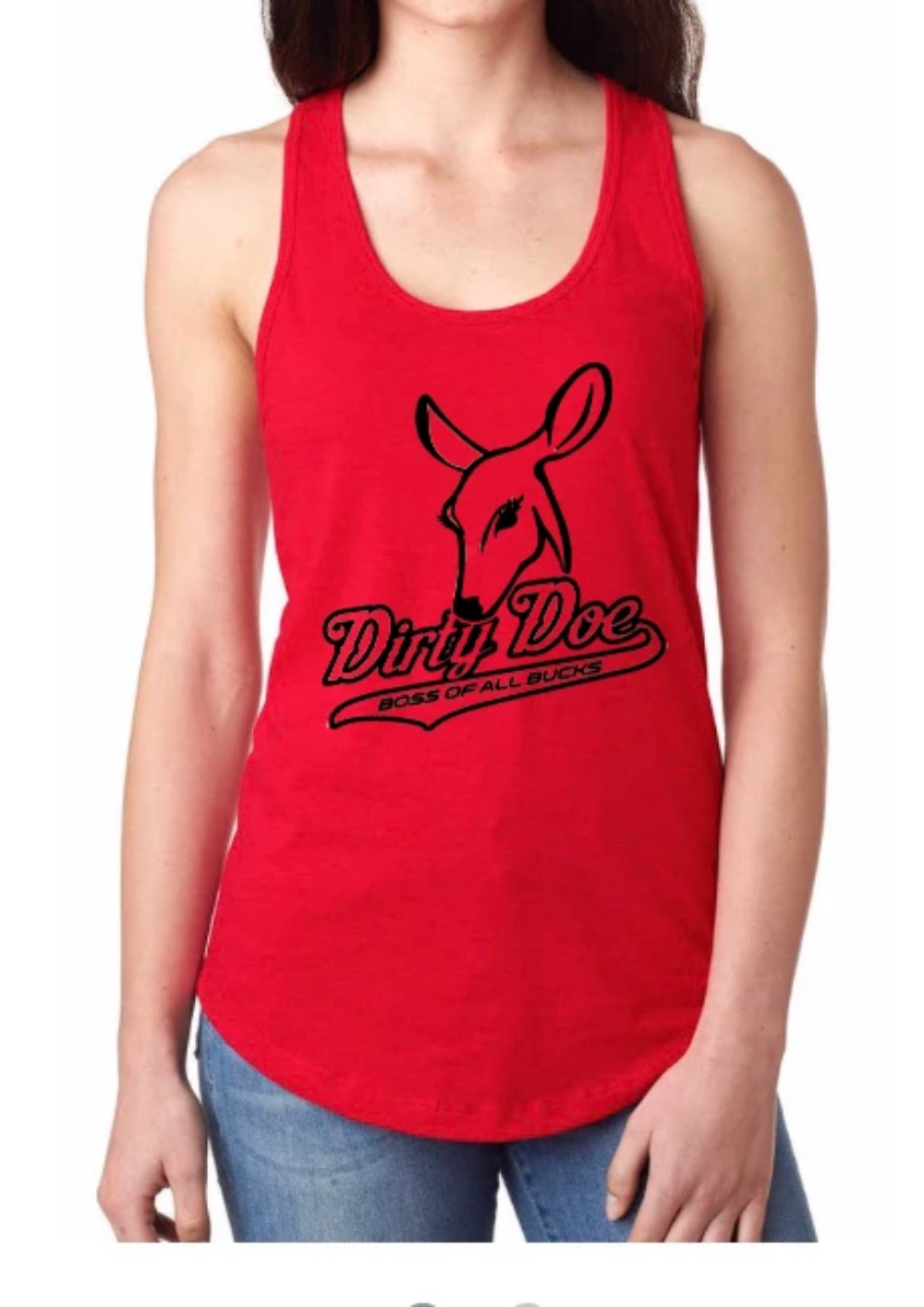 Dirty Doe Racer Back Tank Tops (assorted colors) - Dirty Doe & Buck Wild
