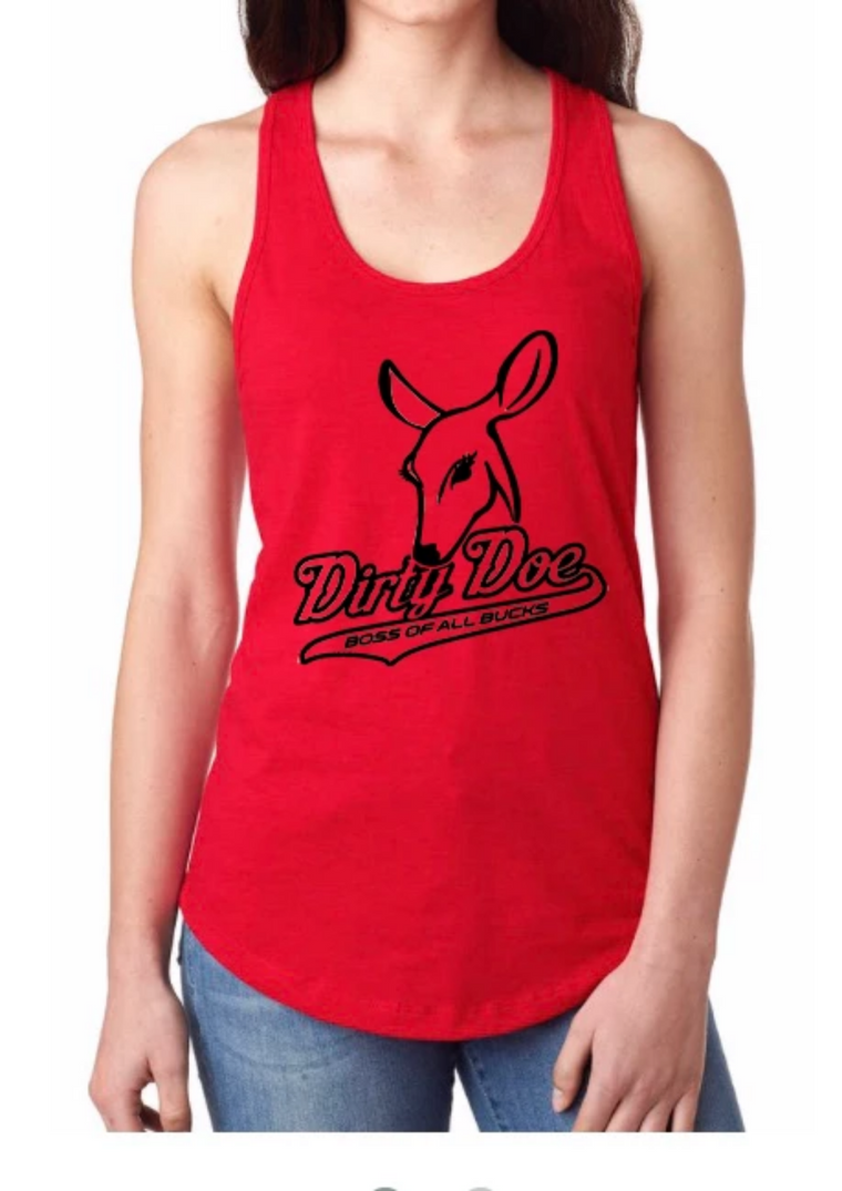 Dirty Doe Racer Back Tank Tops (assorted colors)