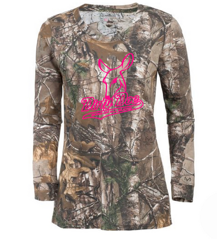Dirty Doe Boss Of All bucks  Long Sleeve Camo Shirts