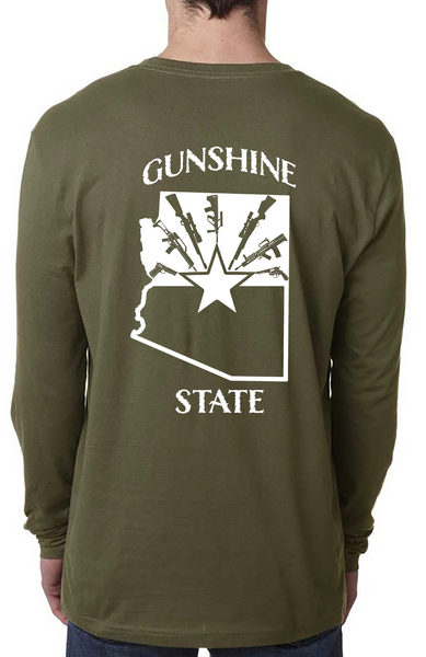 Arizona Gunshine State Long Sleeve Tees - Dirty Doe & Buck Wild ,hunting apparel,camo,girls that hunt,huntress, buck wild,deer shirts,buck shirts,country shirt,country girl shirts, amazon,cabelas,bass pro shop,sportmans,