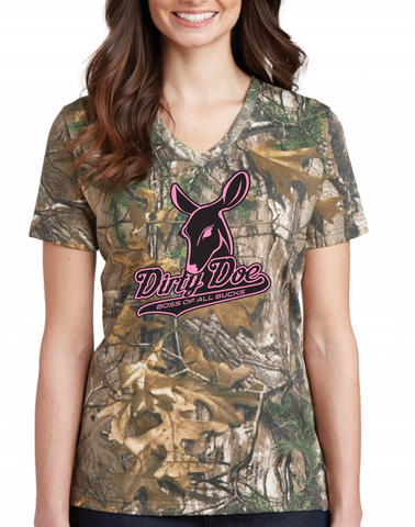 Dirty Doe Camo V-Neck tee