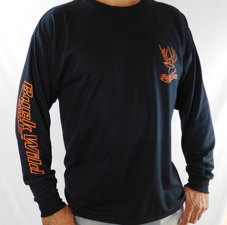 Buck Wild Long Sleeve Shirt Orange Logo