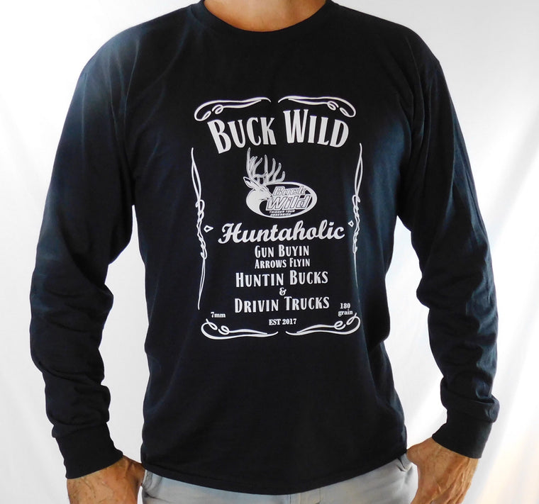 Buck Wild Long Sleeve Shirt With White Logo