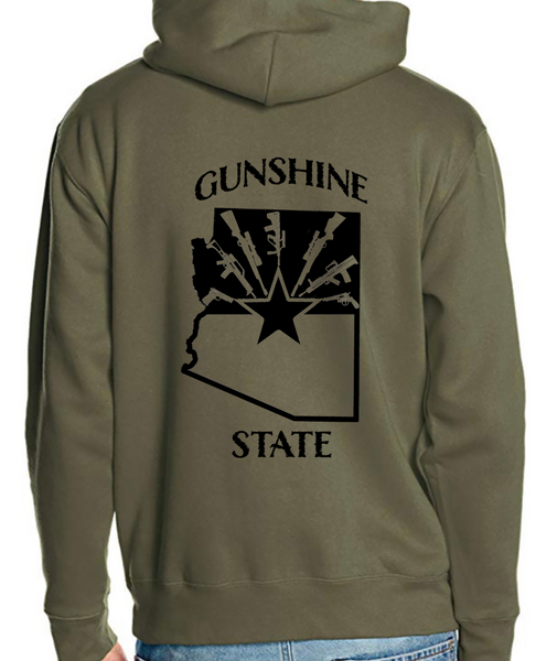 Gunshine State Hoodie in assorted colors - Dirty Doe & Buck Wild ,hunting apparel,camo,girls that hunt,huntress, buck wild,deer shirts,buck shirts,country shirt,country girl shirts, amazon,cabelas,bass pro shop,sportmans,