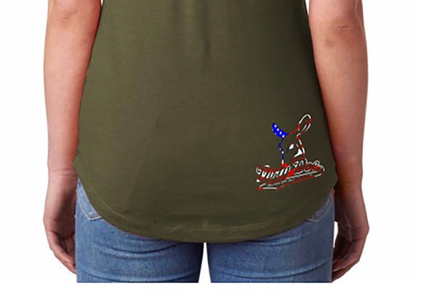 Dirty Doe USA PROUD Racer Back Tank Top (assorted colors) - Dirty Doe & Buck Wild ,hunting apparel,camo,girls that hunt,huntress, buck wild,deer shirts,buck shirts,country shirt,country girl shirts, amazon,cabelas,bass pro shop,sportmans,
