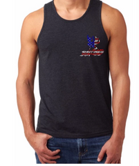 Buckwild Patriotic Tank Top - Dirty Doe & Buck Wild ,hunting apparel,camo,girls that hunt,huntress, buck wild,deer shirts,buck shirts,country shirt,country girl shirts, amazon,cabelas,bass pro shop,sportmans,