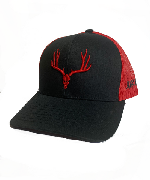 Buckwild Muley Red and Black Snap Back  Hat - Dirty Doe & Buck Wild
