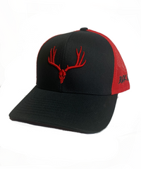 Buckwild Muley Red and Black Snap Back  Hat