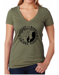 Bullet In The Barrel Kinda Girl Tee ( assorted colors) - Dirty Doe & Buck Wild ,hunting apparel,camo,girls that hunt,huntress, buck wild,deer shirts,buck shirts,country shirt,country girl shirts, amazon,cabelas,bass pro shop,sportmans,