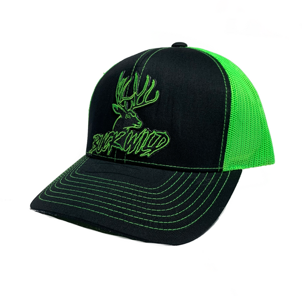 Buckwild Neon Green Patch Snapback hat - Dirty Doe & Buck Wild