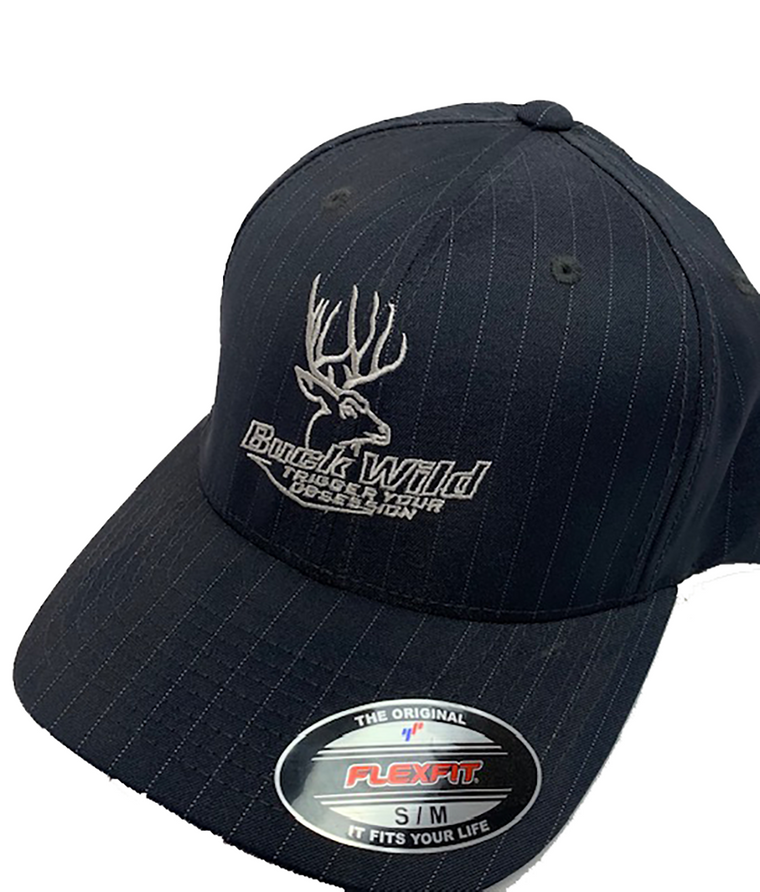 Buck Wild Pin Stripe Flex Fit Hat