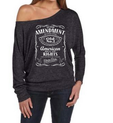 Second Amendment Off The Shoulder Tee - Dirty Doe & Buck Wild