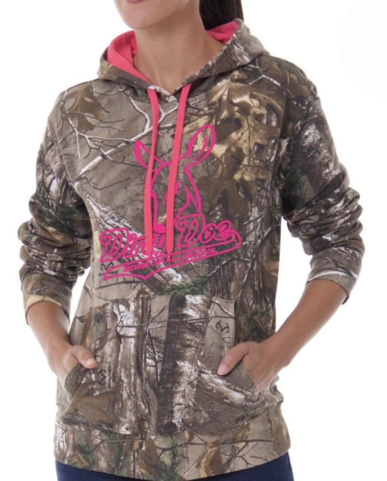 Dirty Doe Boss of All Bucks Hoodie with Neon Pink Logo