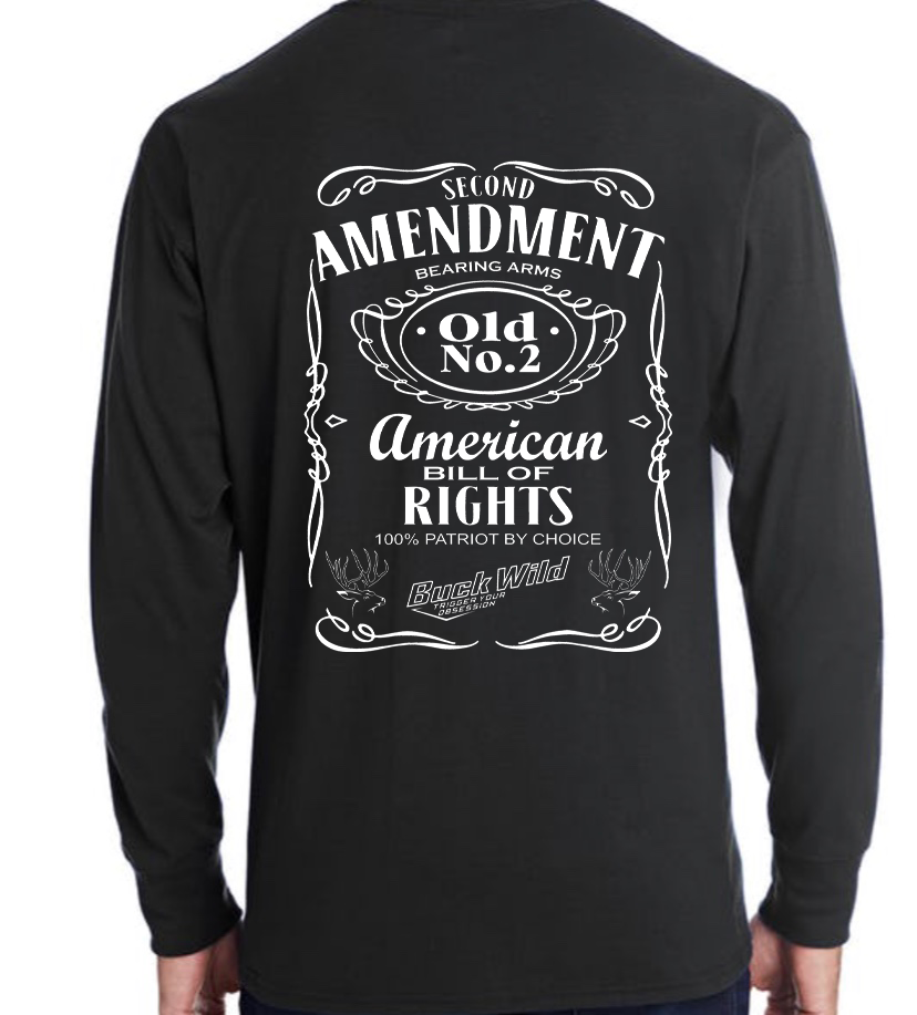 "Buckwild ""Second Amendment"" long sleeve t-shirt - Dirty Doe & Buck Wild"