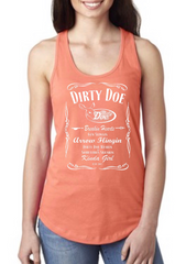 Dirty Doe Breakin Hearts Logo Racer Back Tank Tops ASSORTED COLORS - Dirty Doe & Buck Wild ,hunting apparel,camo,girls that hunt,huntress, buck wild,deer shirts,buck shirts,country shirt,country girl shirts, amazon,cabelas,bass pro shop,sportmans,