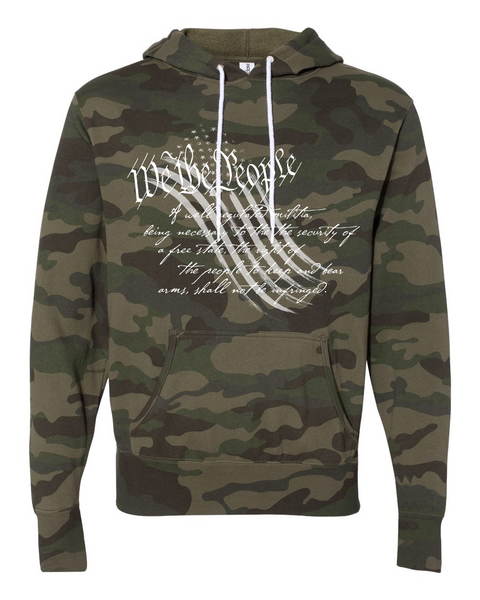We The People Camo Hoodie - Dirty Doe & Buck Wild ,hunting apparel,camo,girls that hunt,huntress, buck wild,deer shirts,buck shirts,country shirt,country girl shirts, amazon,cabelas,bass pro shop,sportmans,