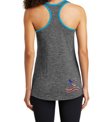 Dirty Doe Patriotic collection Racer Back Tank Top - Dirty Doe & Buck Wild ,hunting apparel,camo,girls that hunt,huntress, buck wild,deer shirts,buck shirts,country shirt,country girl shirts, amazon,cabelas,bass pro shop,sportmans,