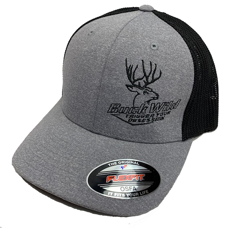 Buck Wild Gray Flex Fit Hat One Size Fits All