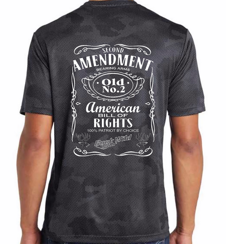 Buckwild Second Amendment Shirt White Logo