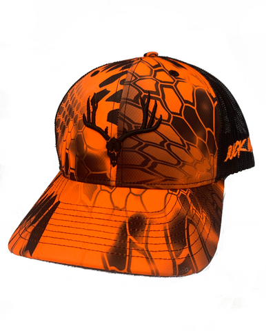 "BUCKWILD ""Mad Orange"" Curveable  Snapback Hat"