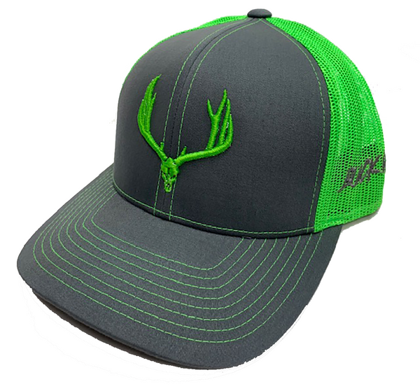 Buck Wild Neon Green Snap Back Hat