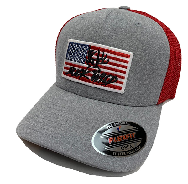 Buckwild American Flag Hat - Dirty Doe & Buck Wild ,hunting apparel,camo,girls that hunt,huntress, buck wild,deer shirts,buck shirts,country shirt,country girl shirts, amazon,cabelas,bass pro shop,sportmans,