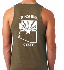 Gunshine State Tank Top - Dirty Doe & Buck Wild ,hunting apparel,camo,girls that hunt,huntress, buck wild,deer shirts,buck shirts,country shirt,country girl shirts, amazon,cabelas,bass pro shop,sportmans,