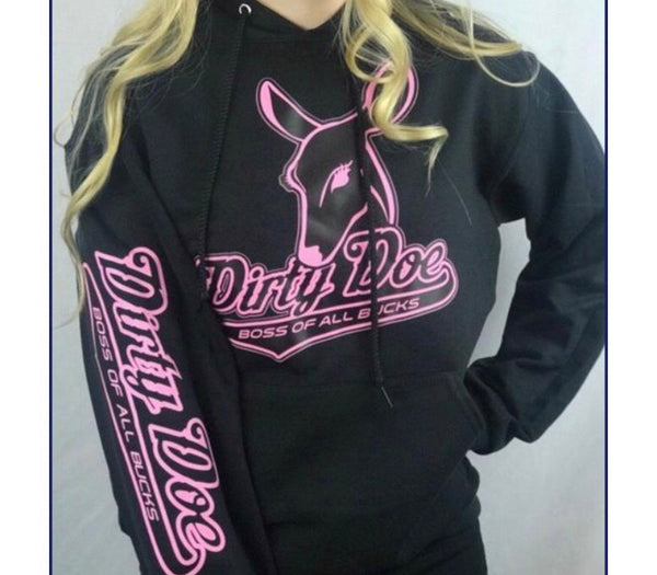 Dirty Doe Hoodies in assorted colors - Dirty Doe & Buck Wild ,hunting apparel,camo,girls that hunt,huntress, buck wild,deer shirts,buck shirts,country shirt,country girl shirts, amazon,cabelas,bass pro shop,sportmans,