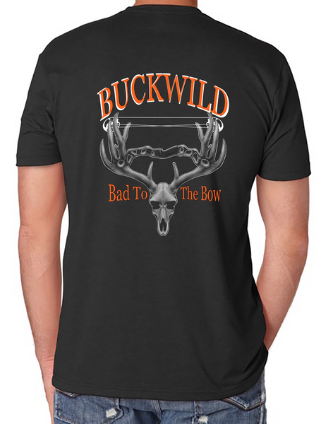 Bad To The Bow Buckwild T-Shirt assorted colors - Dirty Doe & Buck Wild ,hunting apparel,camo,girls that hunt,huntress, buck wild,deer shirts,buck shirts,country shirt,country girl shirts, amazon,cabelas,bass pro shop,sportmans,