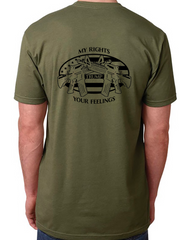 My Rights Trump Your Feelings Buckwild T-Shirts ( assorted colors) - Dirty Doe & Buck Wild ,hunting apparel,camo,girls that hunt,huntress, buck wild,deer shirts,buck shirts,country shirt,country girl shirts, amazon,cabelas,bass pro shop,sportmans,