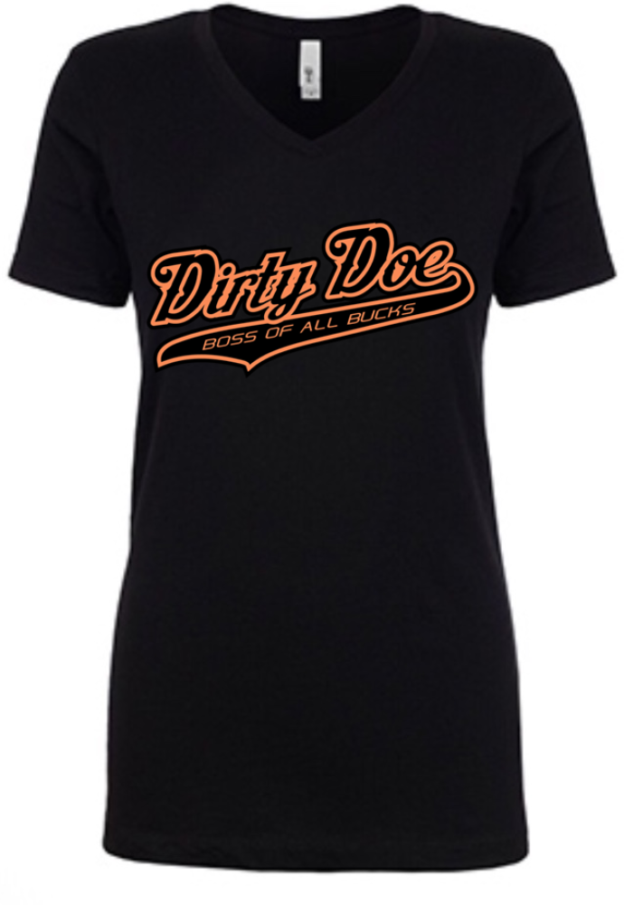Dirty Doe Boss Of All Bucks - Dirty Doe & Buck Wild ,hunting apparel,camo,girls that hunt,huntress, buck wild,deer shirts,buck shirts,country shirt,country girl shirts, amazon,cabelas,bass pro shop,sportmans,