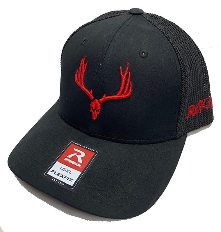 Buckwild Muley Logo Flexfit Hat with red Logo