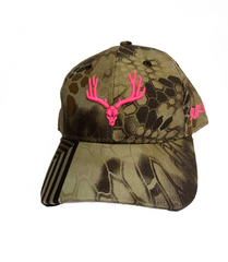 "Buckwild "" Pink Sniper""  Curveable Snapback Hat"
