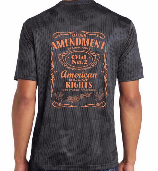 Second Amendment Buckwild orange Logo - Dirty Doe & Buck Wild ,hunting apparel,camo,girls that hunt,huntress, buck wild,deer shirts,buck shirts,country shirt,country girl shirts, amazon,cabelas,bass pro shop,sportmans,