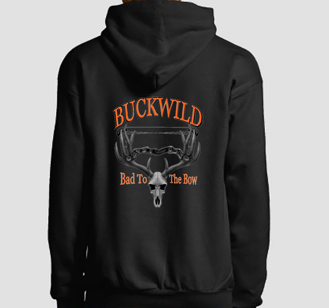 Bad To The Bow Buckwild Black Hoodie