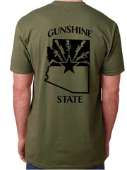 Gunshine State Buckwild T-Shirt - Dirty Doe & Buck Wild ,hunting apparel,camo,girls that hunt,huntress, buck wild,deer shirts,buck shirts,country shirt,country girl shirts, amazon,cabelas,bass pro shop,sportmans,