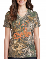 Dirty Doe Camo Shirts With Neon Pink or Neon Orange - Dirty Doe & Buck Wild ,hunting apparel,camo,girls that hunt,huntress, buck wild,deer shirts,buck shirts,country shirt,country girl shirts, amazon,cabelas,bass pro shop,sportmans,