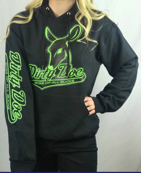 Dirty Doe Boss Of All Bucks Hoodie - Dirty Doe & Buck Wild ,hunting apparel,camo,girls that hunt,huntress, buck wild,deer shirts,buck shirts,country shirt,country girl shirts, amazon,cabelas,bass pro shop,sportmans,