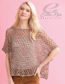 Estelle Poncho with Rustic Silk from Ella Rae