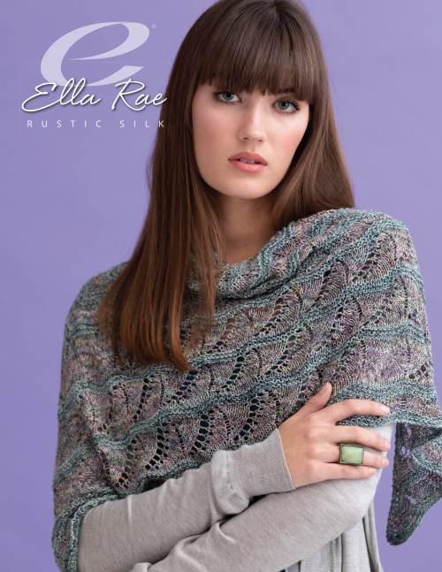 Madelyn Shawl with Rustic Silk from Ella Rae