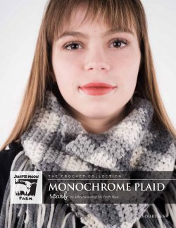 Monochrome Plaid Scarf