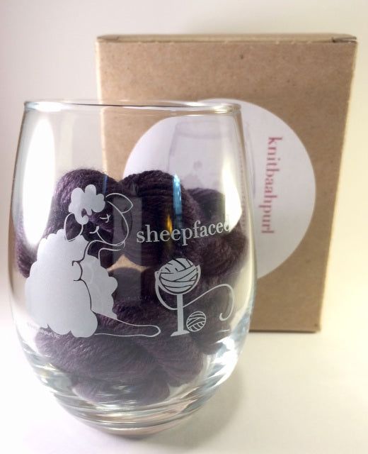 Wine Glasses for Quirky Knitters