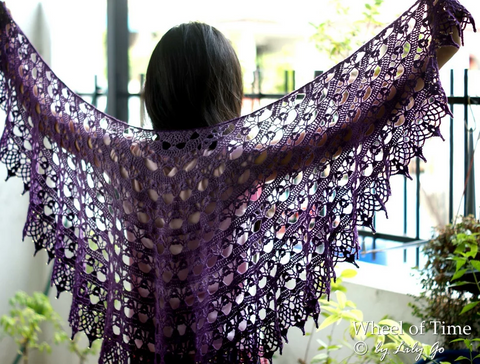 Jump on Spring Crochet Shawl