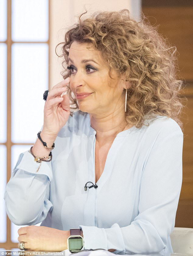 Nadia Sawalha confesses on camera - she has the balding gene!