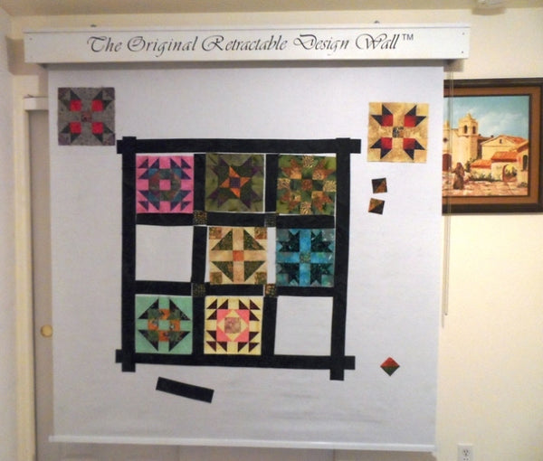 Design Wall For Quilting retractable design wall – my retractable design wall