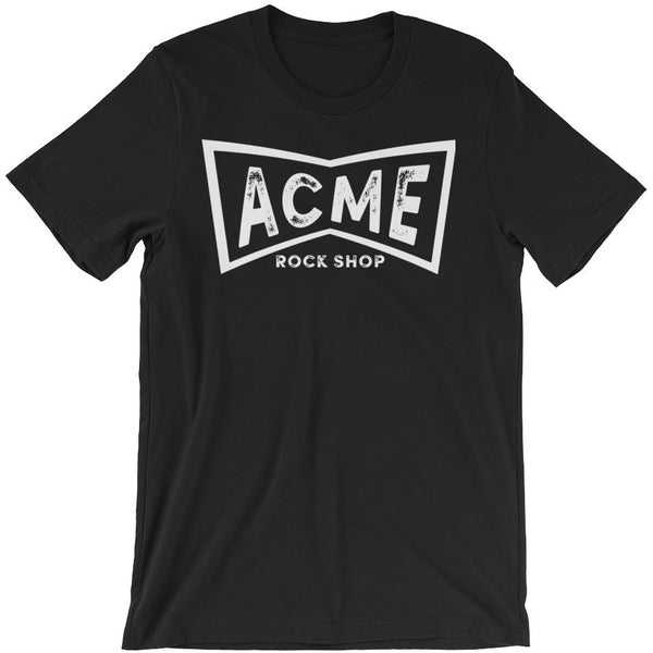 ACME Rock Shop Black Crew Neck Cotton Men's Tee