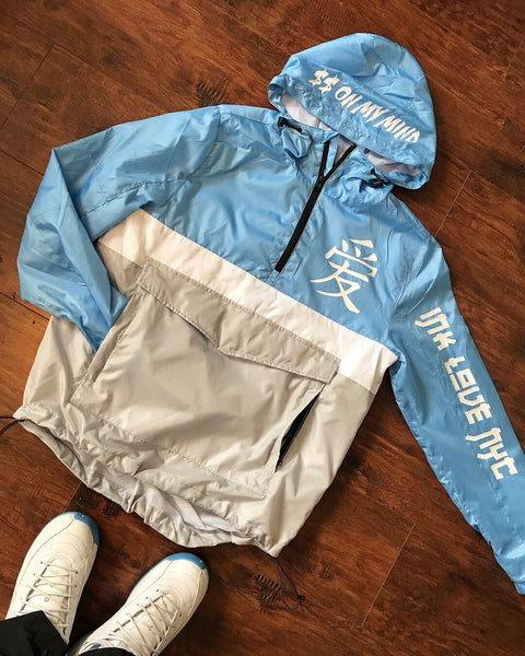 """Money on My Mind"" Trap WindBreaker (Arctic Blue)"
