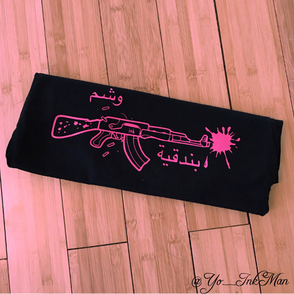 Womens Ink Splat Gat (Black/Pink)