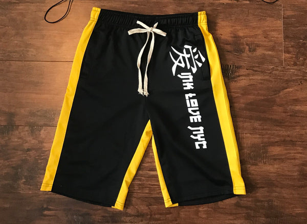 Ink-Love Track Shorts (Black/Yellow)