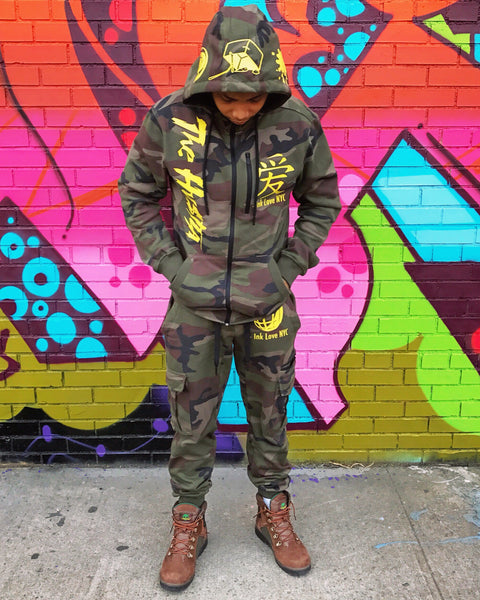 """Trap Tech Suit""  Camo/Yellow"